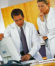 image - doctors using EMR