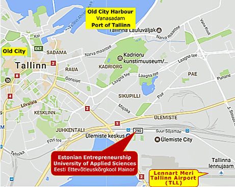 map of Tallinn venue