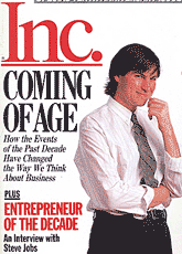 cover of Inc magazine 1989 Steve Jobs interview